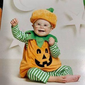 Infant pumpkin plush costume 6-12m New